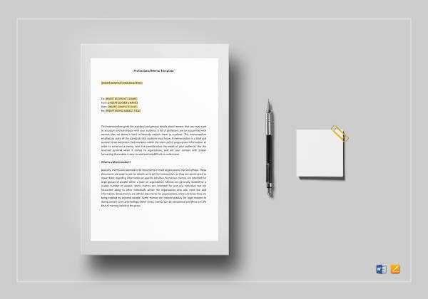 Free Memo Template – 13+ Free Word, Excel, PDF Documents Download