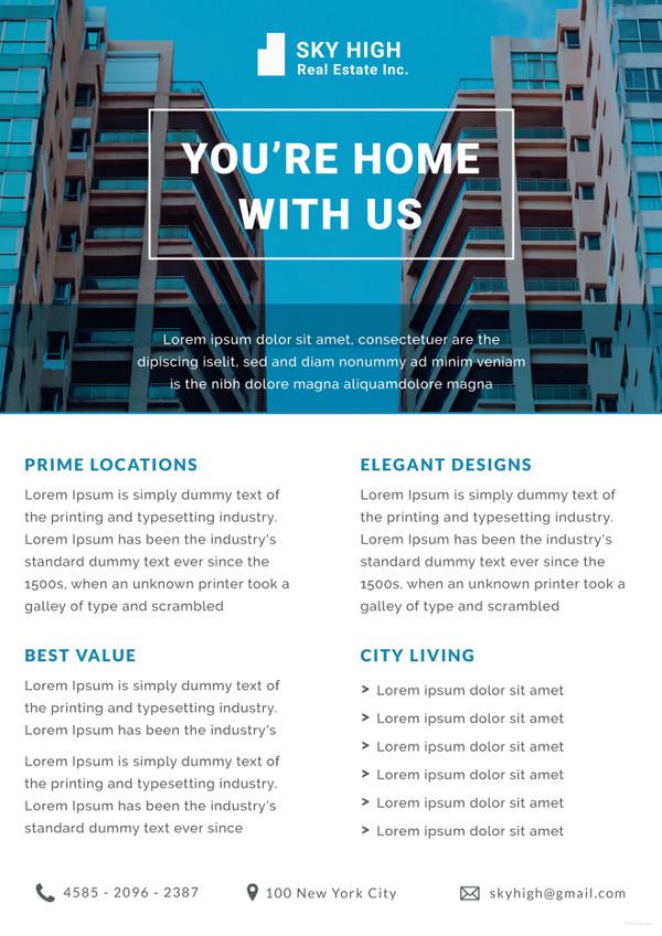 real estate datasheet