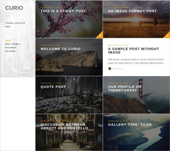 responsive minimal blog gallery bootstrap theme1
