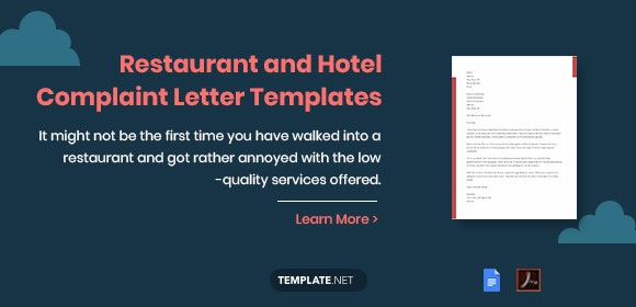 13 Restaurant And Hotel Complaint Letter Templates Pdf