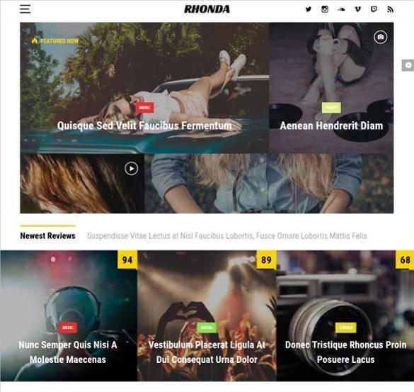 rhonda bootstrap news template11