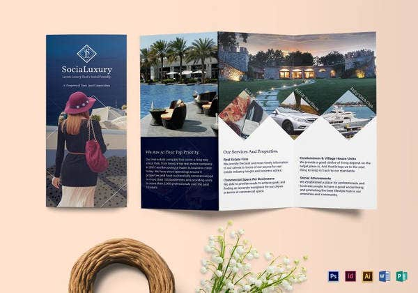 simple luxury brochure tri fold template
