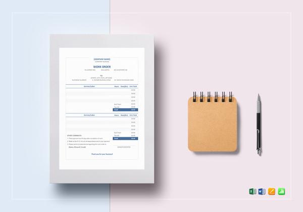 simple-work-order-template