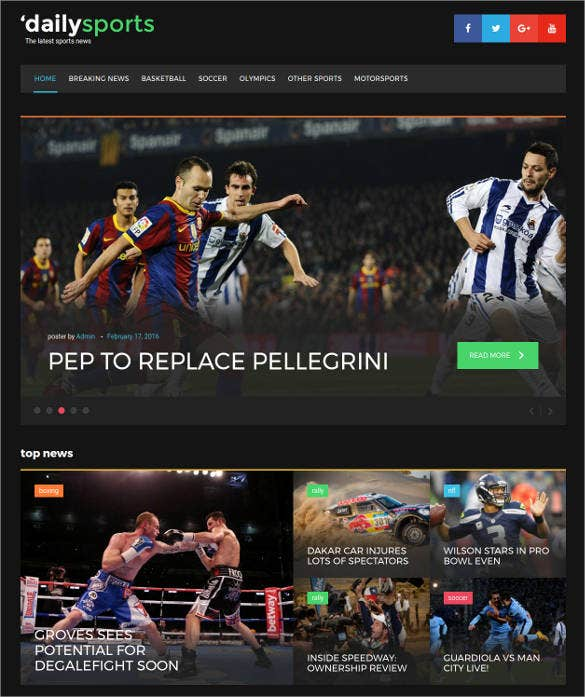 sports news responsive wordpress bootstrap theme2