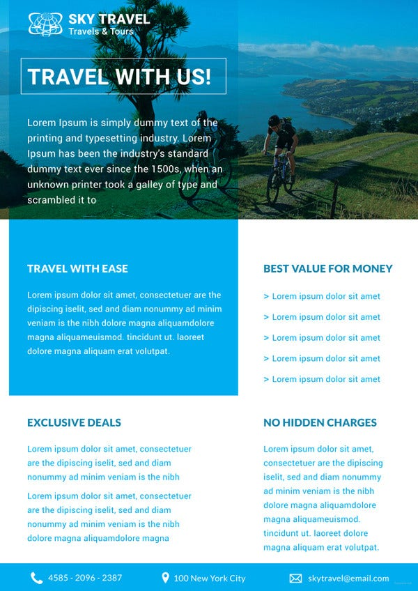 Travel Datasheet Template