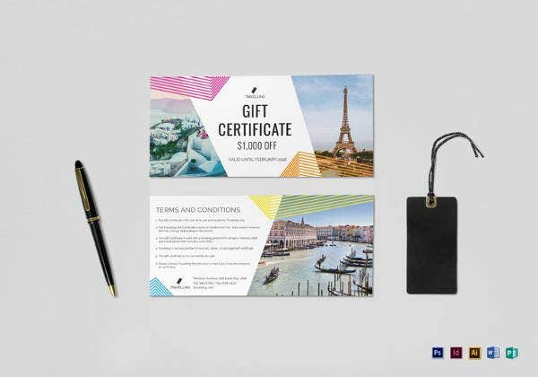 travel certificate template