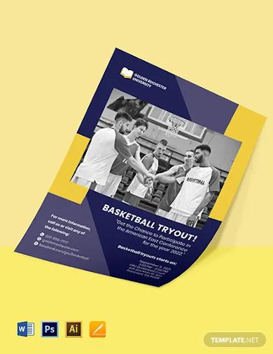 university announcement flyer template