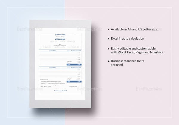 16 Change Order Templates Free Sample Example Format Download