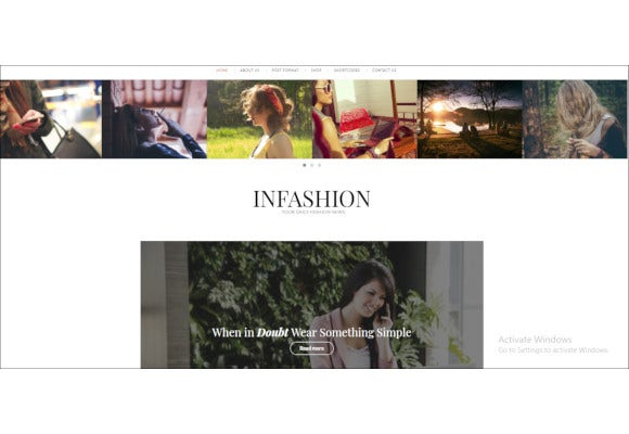 infashion fashion blog wordpress theme