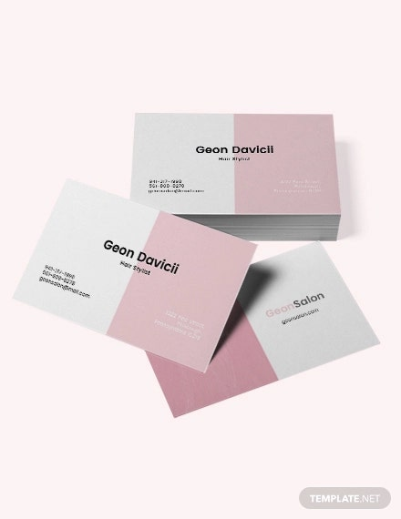 Modern Salon Business Card