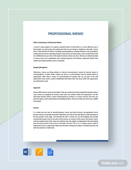 sample professional memo1