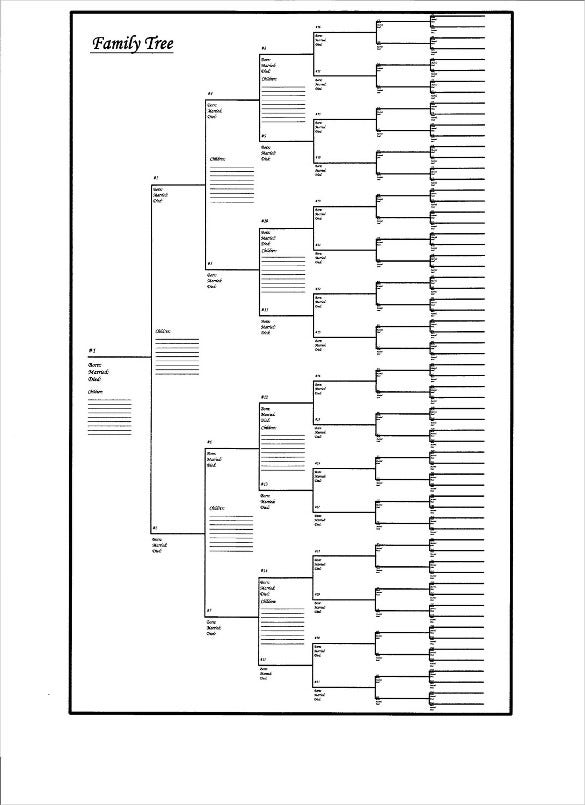 large family tree blank chart