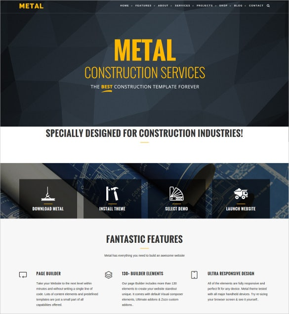 building construction business template