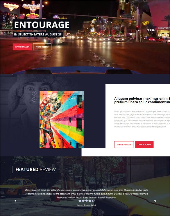 ntourage movie film cinema tv wordpress theme