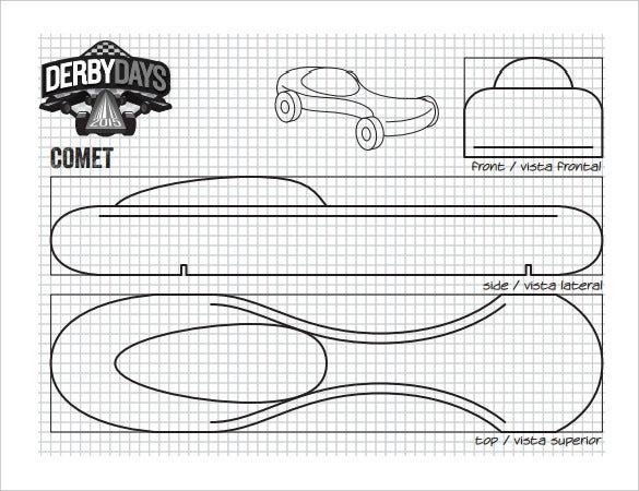 21 cool pinewood derby templates free sample example format