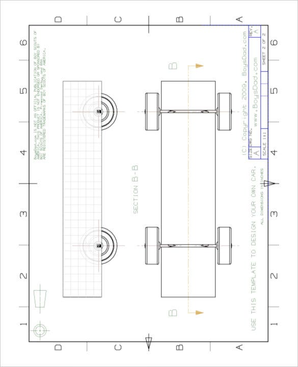 Blank Pinewood Derby Design Templates