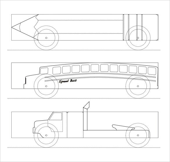 free download speed bus pinewood derby templates
