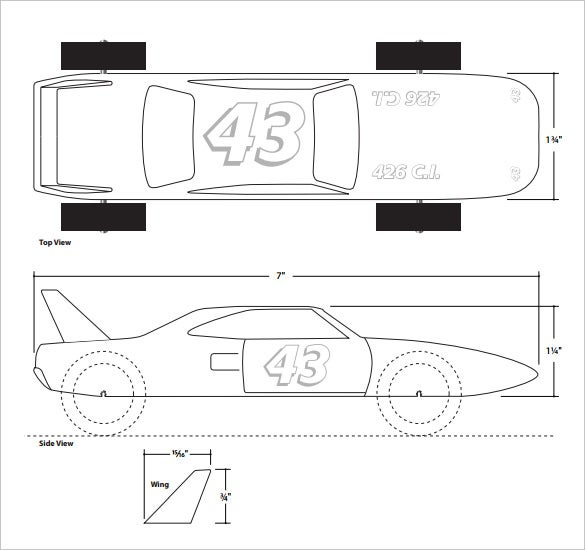 Jet pinewood design templates autos post for Pine wood derby car templates