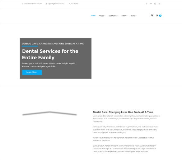 dental care dental medical wordpress theme