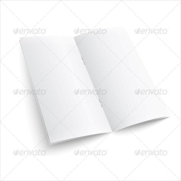 simple blank paper brochure