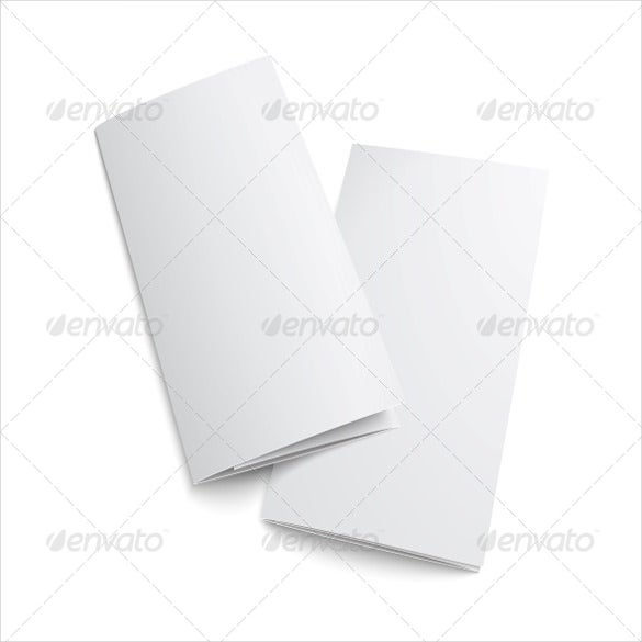 elegant blank trifold paper brochure
