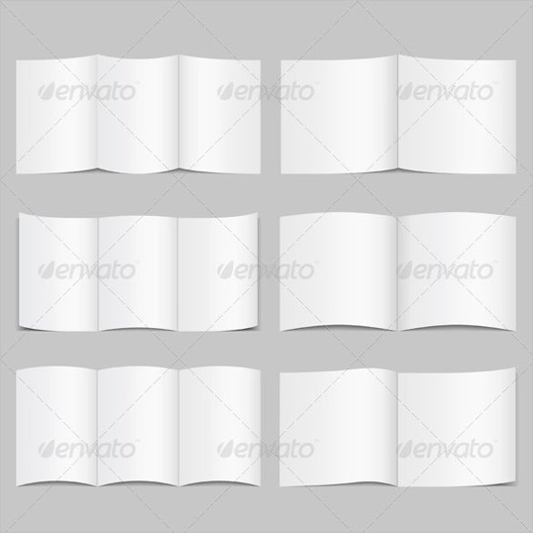 Blank Brochure Template   Free Psd Vector Eps Ai Format