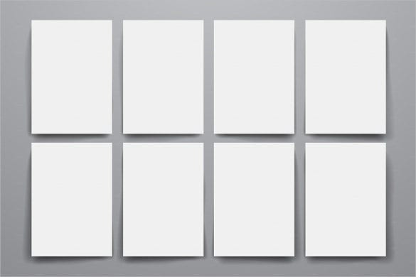 Empty Blank Brochure Templates