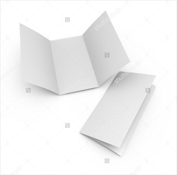 blank folded brochure paper leaflet