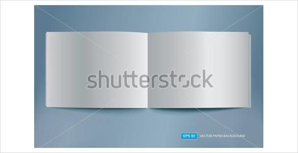 vector blank brochure