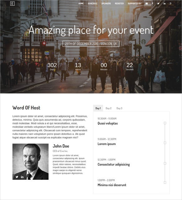 eve event marketing bootstrap theme