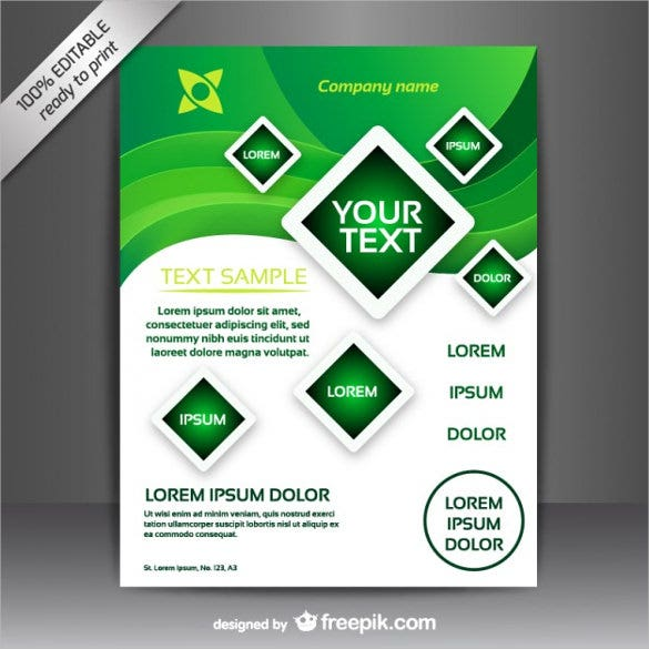 free vector brochure free design