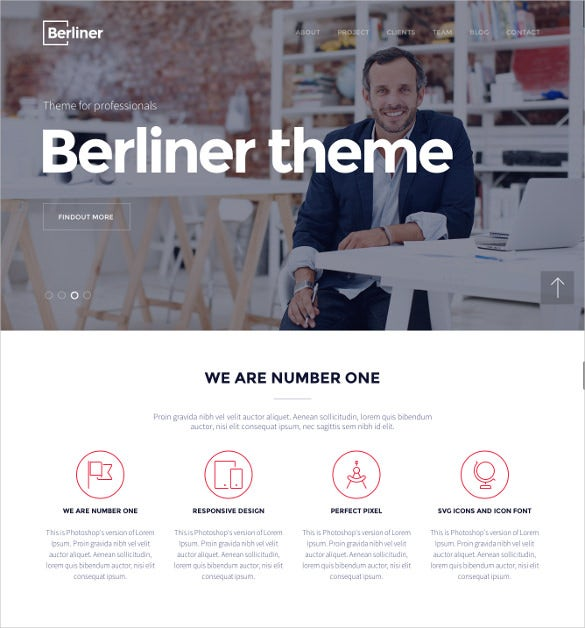 berliner creative wordpressbootstrap theme