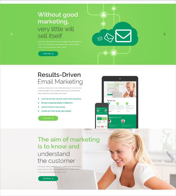 business marketing bootstrap responsive website template
