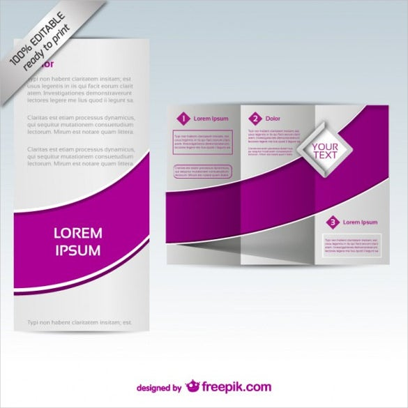vector brochure mock up design