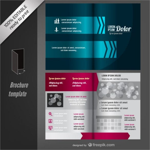 vector editable blank brochure template