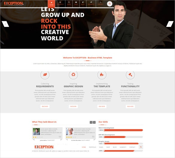 exception multi purpose responsive joomla template