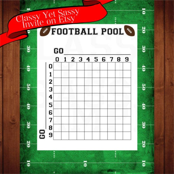 Printable Blank Football Pool Template