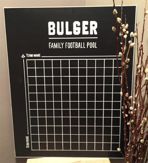 download family football game pool template