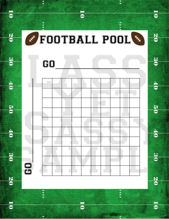 football pool party game printable download