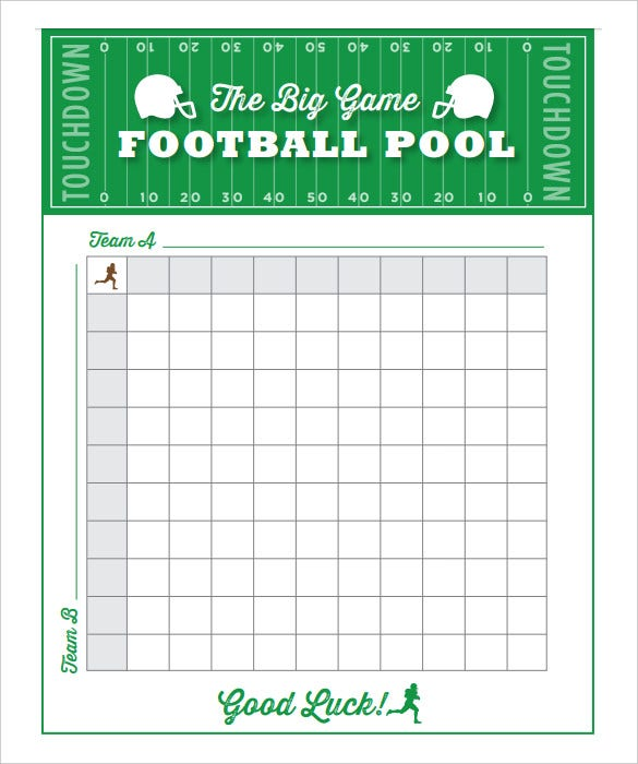 football gam pool free printable 11x14 living locurto pdf