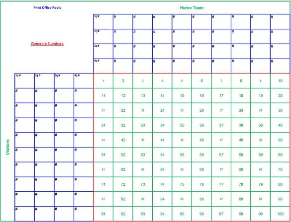 photo relating to Superbowl Boards Printable referred to as 19+ Soccer Pool Templates - Phrase, Excel, PDF Totally free