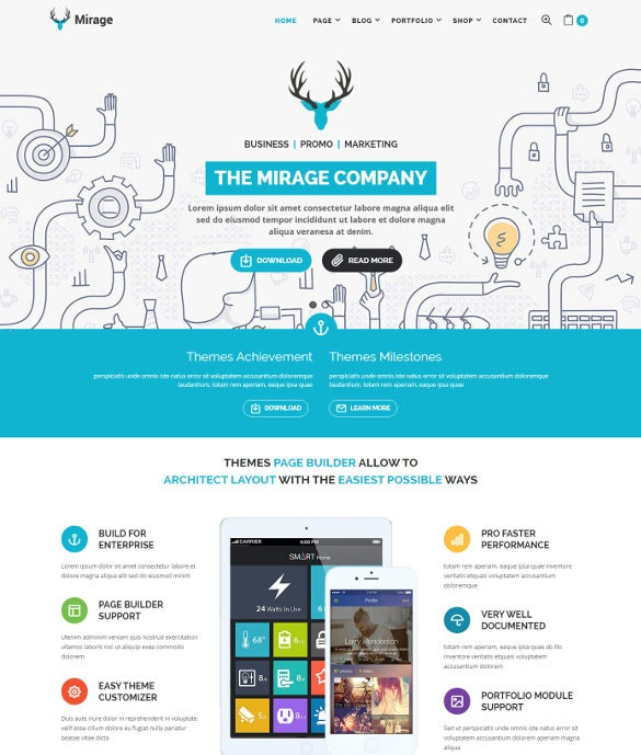 mirage business and marketing wordpress bootstrap theme