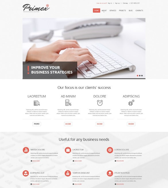primex marketing bootstrap theme