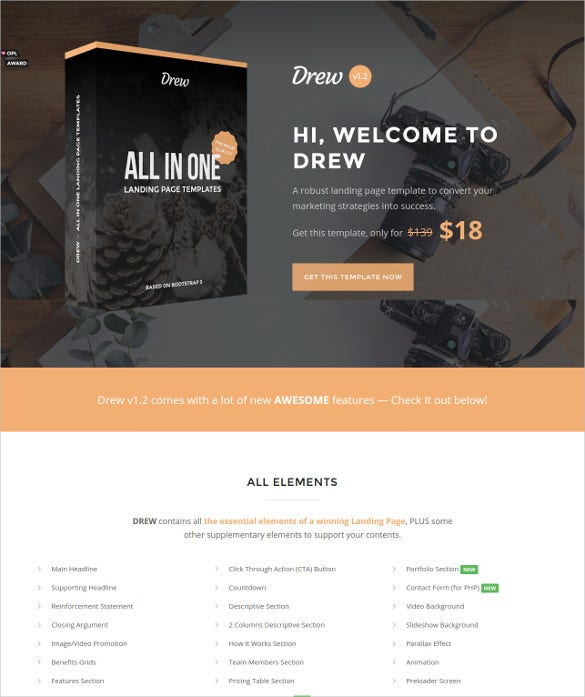 all in one marketing theme
