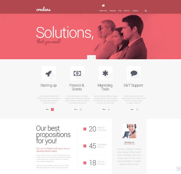 business for bold start bootstrap theme