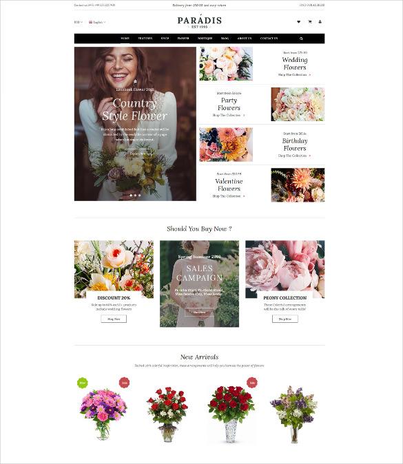 paradise – responsive multipurpose magento html5 theme
