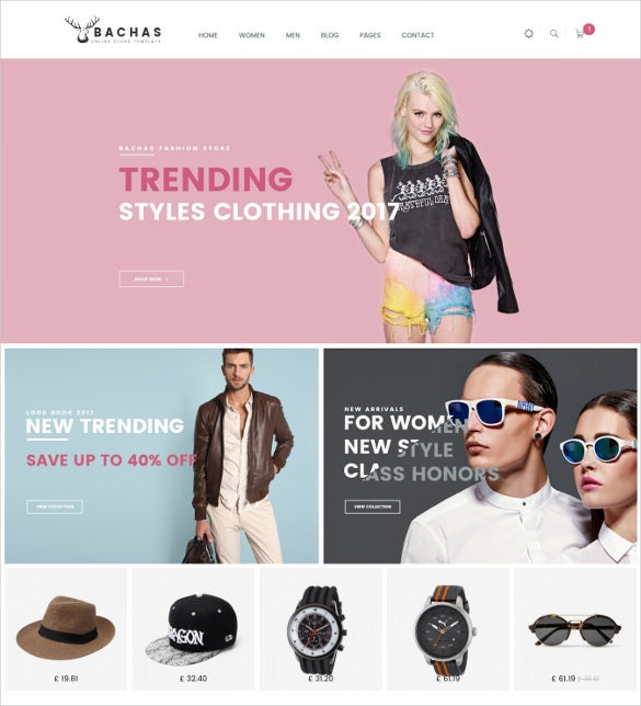 bachas fashion ecommerce bootstrap template
