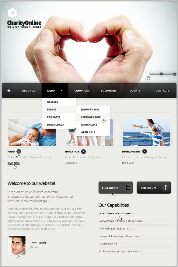 charity online joomla blog template