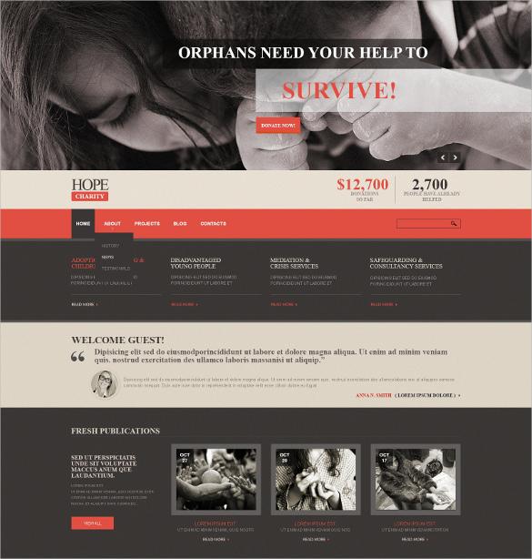 charity responsive joomla html5 template
