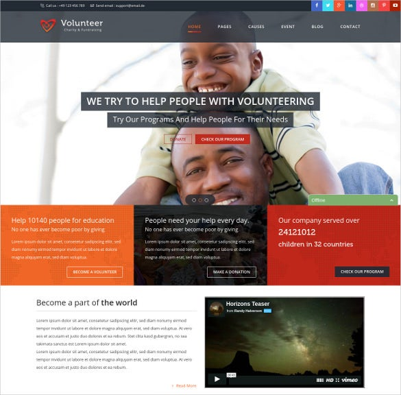 20 charity html5 themes templates free premium templates